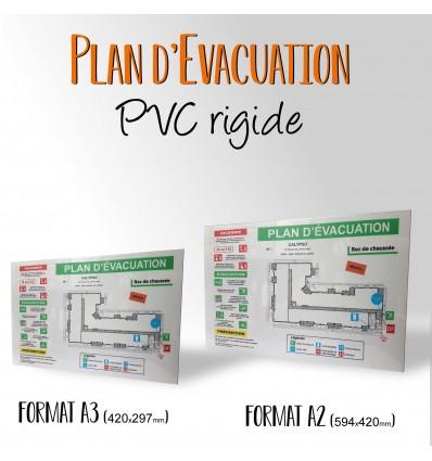 PLAN D'EVACUATION 300g Couché brillant