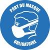 "STICKER ROND  ""Port du masque Obligaoire"""